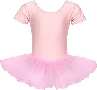comprar comparacion tanzmuster tutú de Ballet 'Alina' de Manga Corta para niñas en Rosa, Blanco y Negro