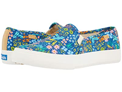 Keds Double Decker Meadow (Navy Printed Canvas) Women