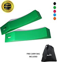 AbraFit Deadlift Barbell Jack Alternative Wedge, Safely Load and Unload Barbell and Plates, Multiple Colors (Free Carry Bag Included)