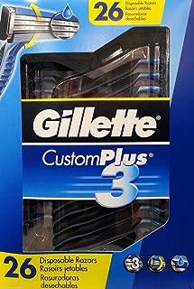 Gillette Men's Custom Plus 3 Disposable Razor 26 CT.