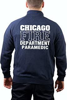 avec haches/ feuer1 Pull /à Capuche Bleu Marine Chicago Fire Dept /Paramedic
