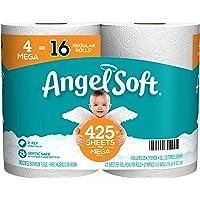 Deals on Angel Soft Toilet Paper Bath Tissue, 4 Mega Rolls