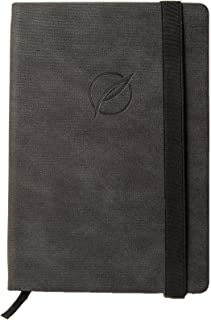 Parch Products - Hard Cover Notebook, Ruled A5 - Vegan Leather Bound Note Book Journal, With Non-Bleeding Paper - Black