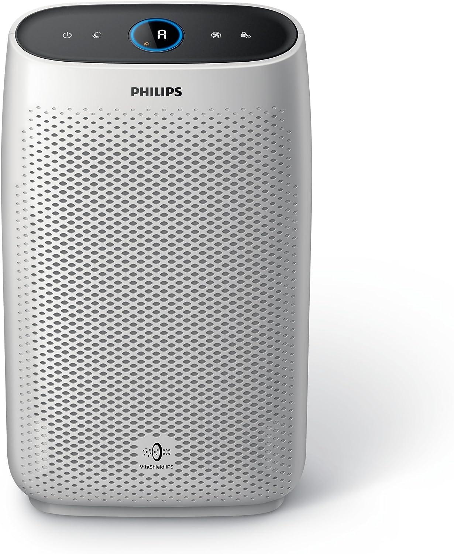 Philips Ac1215/10 Purificador Serie 1000 de Aire con Modo de detección Nocturna, Hasta 63 m², Interfaz de Usuario Táctil con Pantalla, Respuesta en Tiempo Real, Silencioso, Filtro Hepa Nanoprotect