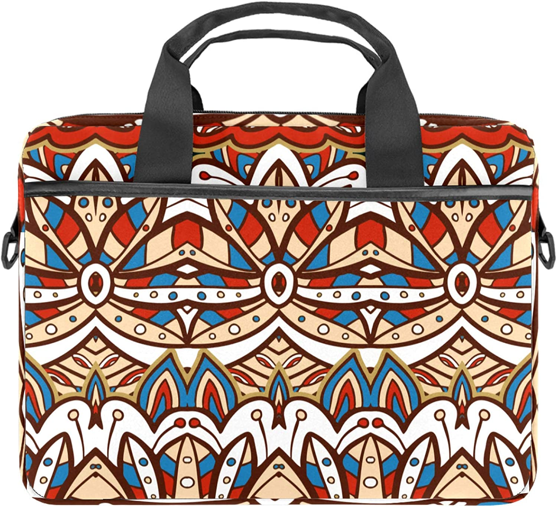 American India Ethnic Aztec Pattern Laptop Shoulder Messenger Bag Case Sleeve for 13.4-14.5 Inch Waterproof Laptop Case Laptop Briefcase