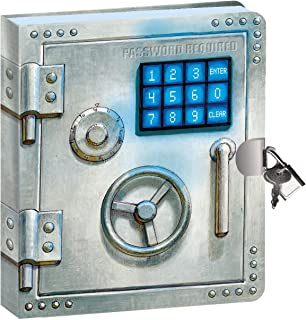 "Peaceable Kingdom Vault Door 6.25"" Lock and Key, Lined Page Diary for Kids"