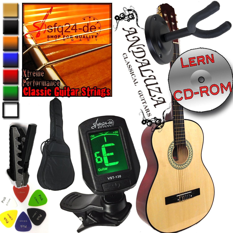 Andaluza español estilo Pack de guitarra clásica – Natural + caso ...