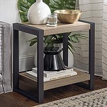 غرفة المعيشة طاولة جانبية من الخشب الصناعي من WE Furniture ، 60.96 سم، رمادي/بني