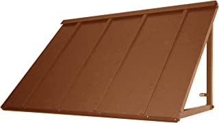 Awntech 3-Feet Houstonian Metal Standing Seam Awning, 24 by 24-Inch, Copper