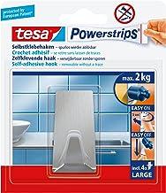 Tesa Powerstrips kanca (büyük metal), gümüş mat, Gümüş, 58266-00000-00