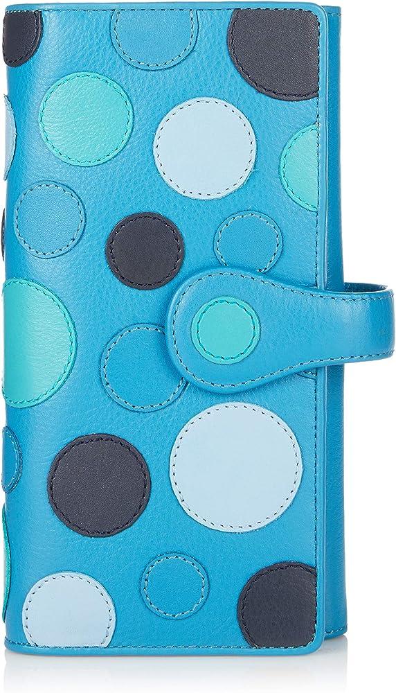 Visconti ® portafoglio da donna in vera pelle porta carte di credito con protezione rfid P2