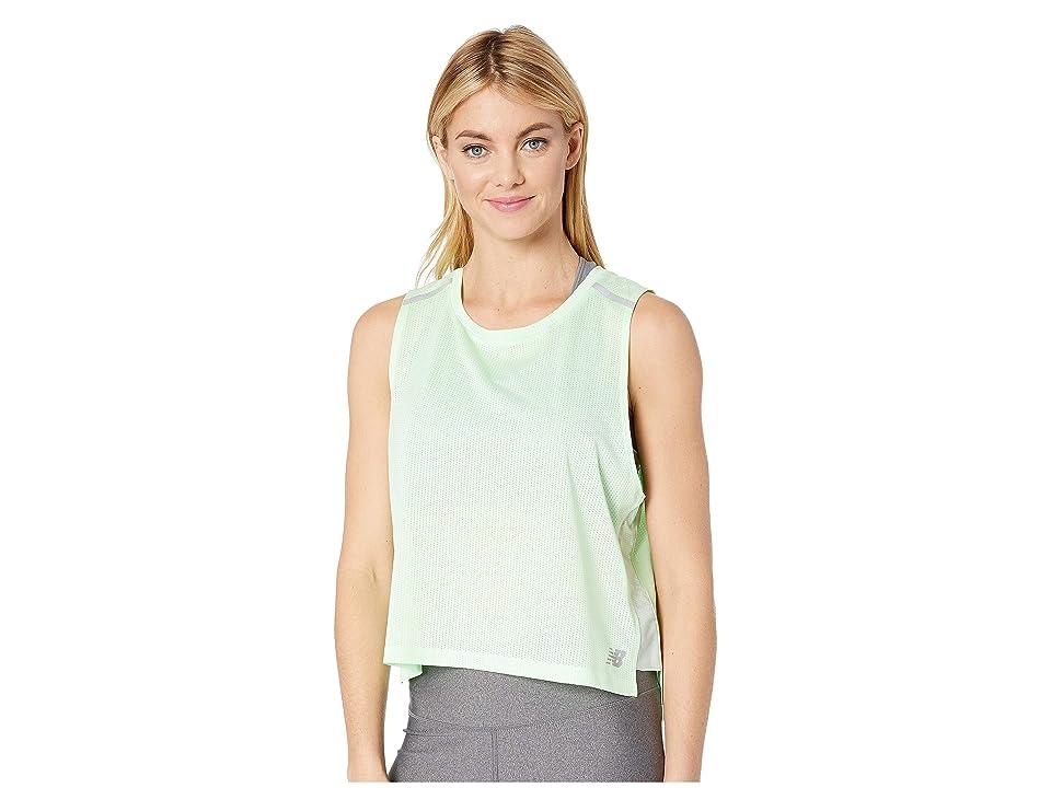 New Balance Ice Crop Tank Top (Green Flash) Women