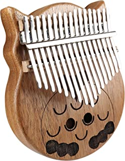 longdafeiUS Kalimba, Owl Thumb�Piano�with 17 Key Finger Piano Mbira Solid Walnut Wood Thumb Piano Finger Percussion Musical Gift