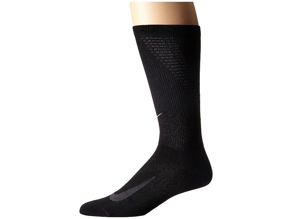Nike Elite Run Lightweight 2.0 Crew (Black/Anthracite) Crew Cut Socks Shoes