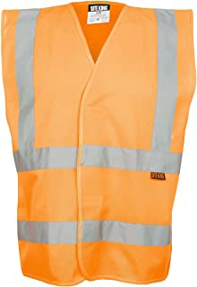 Mens Hi Visibility Waistcoat Size S to 5XL - WORK TRAVEL SAFETY