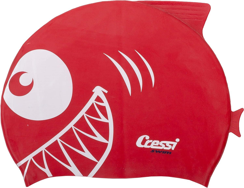 Cressi Silicone Kids Cap Shark Gorro de Baño, Unisex niños