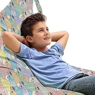 ABAKUHAUS Chambre Adolescent Jouet Sac de Rangement Chaise Lounge, alpagas Enfants, Stockage pour Animal en Peluche à Haut...