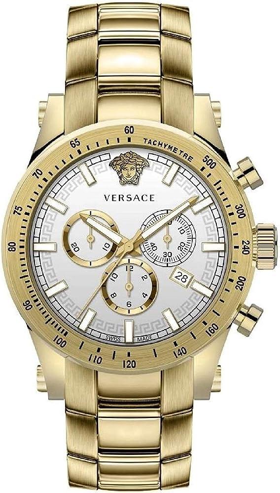 Versace orologio cronografo uomo in acciaio inossidabile VEV800619