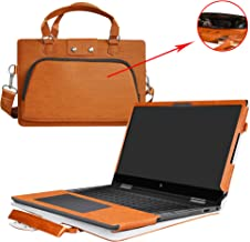 Envy x360 15 Case,2 in 1 Accurately Designed Protective PU Cover + Portable Carrying Bag for 15.6