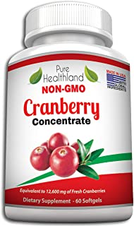 Pure Healthland Triple Strength Cranberry Concentrate Supplement Pills For Urinary Tract Infection Uti. Promote Kidney Bla...