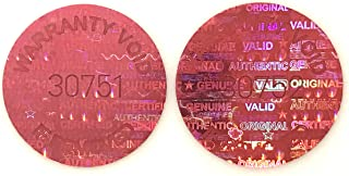 """1,000 Red Round Hologram Tamper Evident Security Labels/ Stickers Tinted Covert Laser Serialized: Unique - Size: 0.625"""" Diameter (16mm)"""