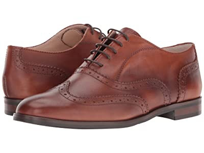 Massimo Matteo Oxford Wing Tip (Cuoio) Women