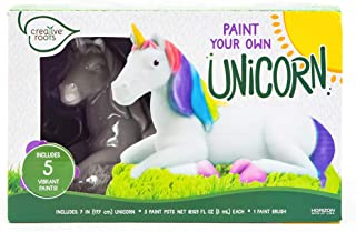 CREATIVE ROOTS Paint Your Own Unicorn by Horizon Group USA, DIY Kit, Includes 5 Paint Pots & Paint Brush, Multicolor