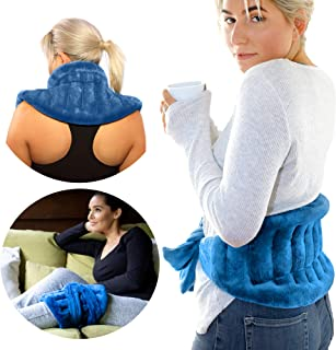 PurpleMoon Heat Pack Microwavable Wrap - Extra Long Straps for Lower Back, Neck and Shoulder Pain Relief, Hot Pack for Joi...