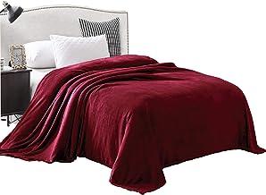 بطانية تنفع كملاءة فوق السرير وفانيلا كبيرة من القطيفة المخملية من ميزلا اكسلوسيفو - مقاسات والوان مختلفة