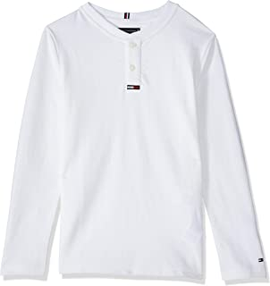Tommy Hilfiger Boy's Waffle Henley Long Sleeve Knit Tops