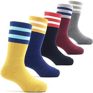 Boys Thick Cotton Socks Kids Warm Socks Winter Thermal Seamless Crew Socks