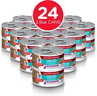 Hill's Science Diet Canned Wet Cat Food, for Senior Cats, Healthy Cuisine, 2.8 oz, 24-Pack