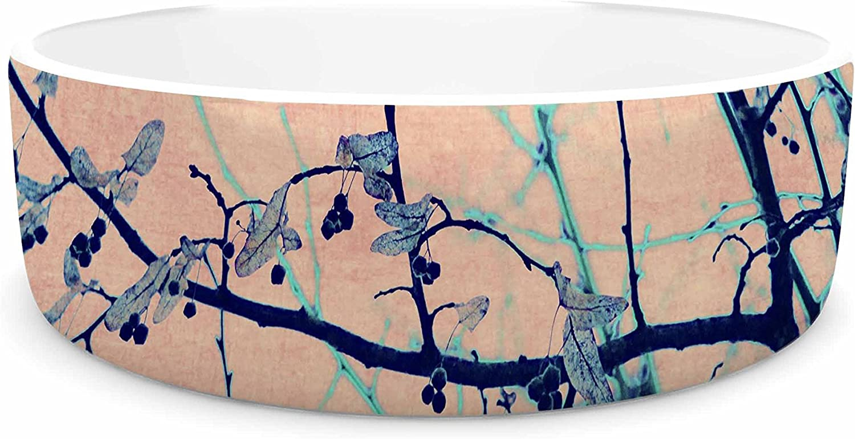 KESS InHouse Ingrid Beddoes Sweetgum Tree  Pink Nature Pet Bowl, 7