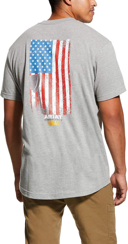 ARIAT Men's Rebar Cotton Strong American Grit Graphic T-Shirt