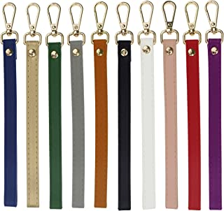 Coolcoco Colorful Leather Wrist Strap Replacement for Purse/Wallet/Key Chain Holder (10 Pieces/Set)