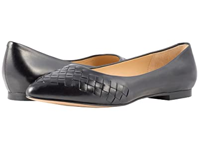 Trotters Estee Woven (Black Woven Leather) Women