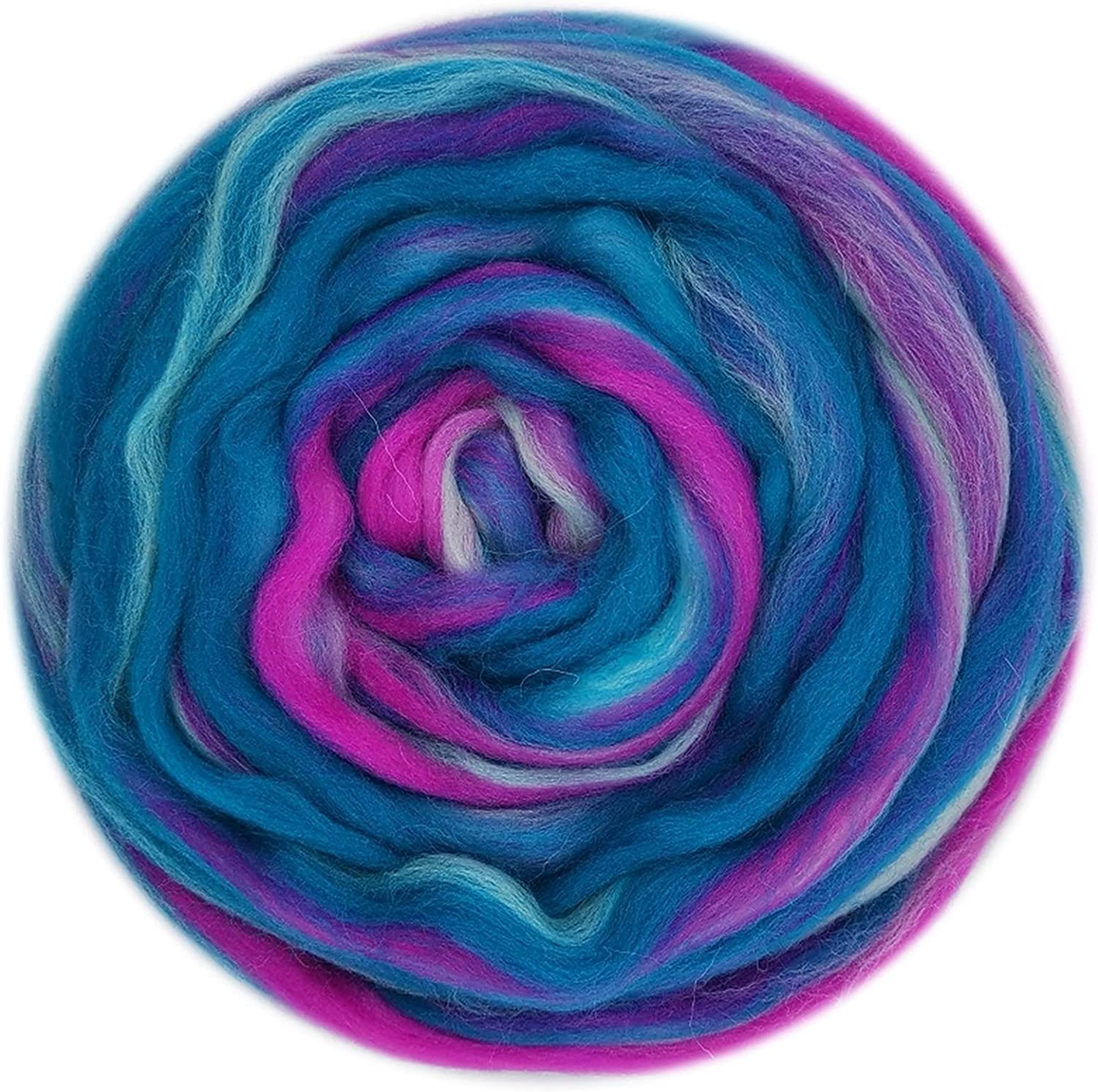 LJLWX Blended Directly managed store Wool roving Han Roving Fees free Mixed 50g