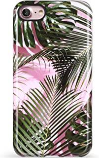 VIVIBIN iPhone 8 Case,iPhone 7 Case Palm Leaves,iPhone 8 Silicone Case Clear Bumper Soft TPU Cover Slim Fit Protective Phone Case for iPhone 8 and iPhone 7 4.7 inch
