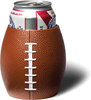 football shaped koozie