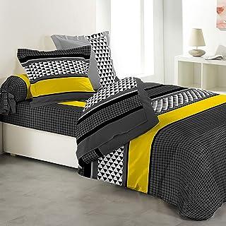 Loreto – A Quality Linen Brand 144 TC 100% Cotton Double Bedsheet with 2 Pillow Covers - Stripes, Multi Colour