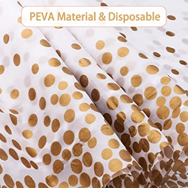 "FYY 4 Pack Disposable Plastic Tablecloths, 54"" X 108"" Plastic Tablecloths for Indoor or Outdoor Tables Parties Christ"