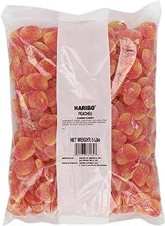 Haribo Gummi Candy, Peaches, 5-Pound Bag