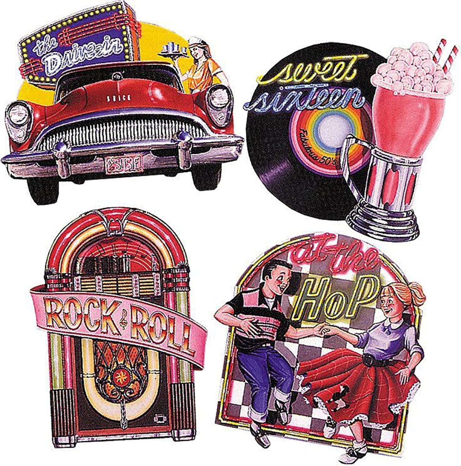 Beistle Co 50S Cutouts Pack of 4 16 Inch