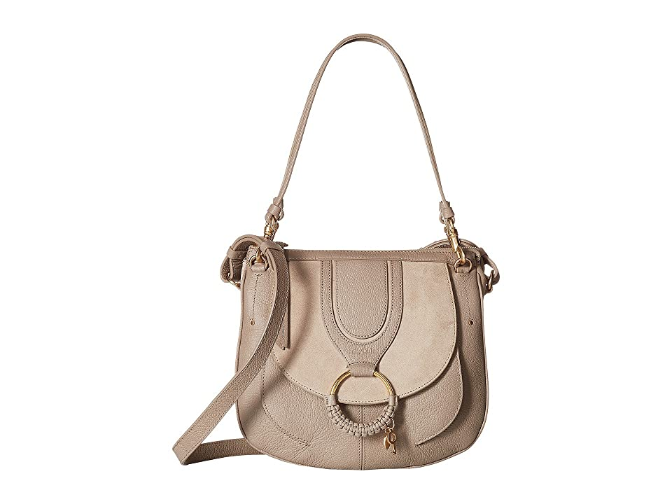See by Chloe Hana Suede Leather Tote (Motty Grey) Tote Handbags
