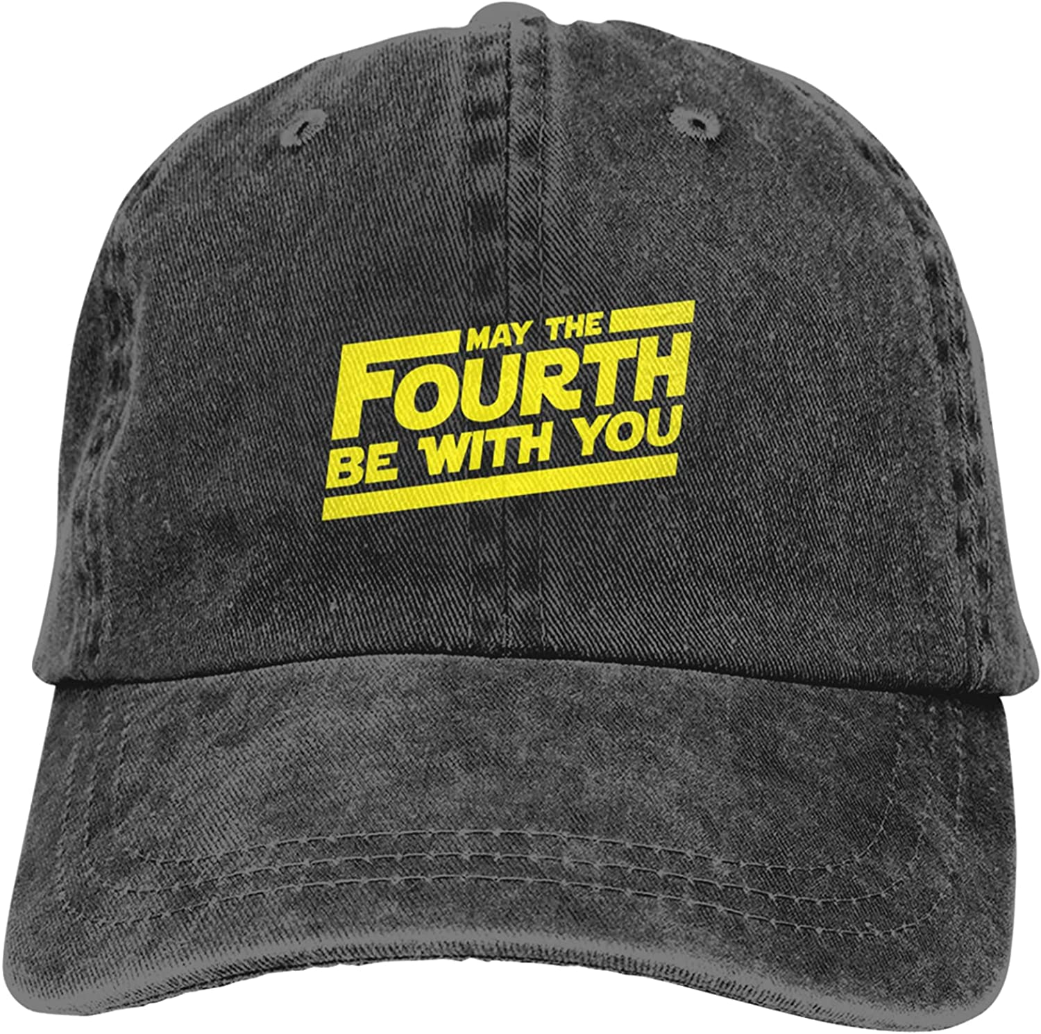DOPKEEP Unisex Baseball Cap Adjustable May The 4th Be with U You Trucker Hats Cowboy Hat Camping Black