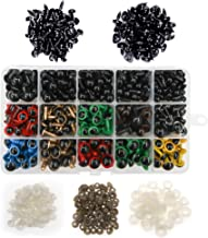 TOAOB 264pcs Multi Colors Plastic Safety Eyes and 100pcs Black Safety Noses Set with 364pcs Washers for Stuffed Animals Amigurumi Dolls Crafts Making