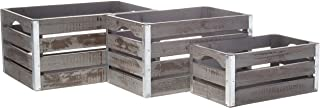 Wald Imports 8113/S3 Decorative Crate Gray
