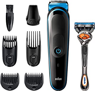 Braun All-in-one trimmer MGK5245, 7-in-1 Beard Trimmer, Hair Clipper, Detail Trimmer,...