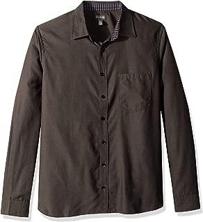 Van Heusen Men's Big and Tall Never Tuck Long Sleeve Button Down Solid Shirt