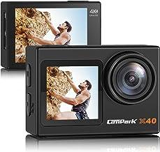 【2021最新版】Campark アクションカメラ 4K/30FPS 20MP高画質 デュアルカラースクリーン 前後タッチパネル 水中カメラ 外部マイク対応 WiFi搭載 EIS2.0手ぶれ補正 SONYセンサー 1350mAhバッテリー2個 ...